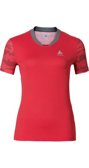 Odlo Morzine Shirt S/S Women bittersweet-allover print SS17